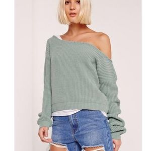 Missguided Cropped Off the shoulder sweater
